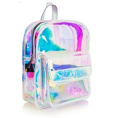 Holographic Clear Backpacks Irisdecent PVC Mini Backpacks for Girls Clear Backpacks, Cute Mini Backpacks, Stylish Backpacks, Backpacks For Sale, Girl Backpacks, Silver Backpacks, School Backpacks, Clear Plastic Bags, Clear Bags