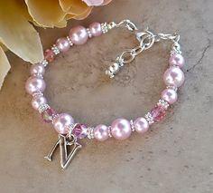 Personalizadas de la perla y pulsera de cristal