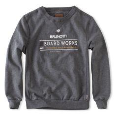 Brunotti Narda Mens Sweat (Dark Grey Melee) - MENS SWEATS - Brunotti online shop