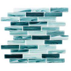 Long Island Mosaics & Tile Island Antigua x Glass Mosaic Tile Color: Green Aqua Bathroom Decor, Ocean Bathroom, Turquoise Bathroom, Mermaid Bathroom, Bathroom Inspo, Master Bathroom, Bathroom Ideas, Aqua Kitchen, Home Decor Kitchen