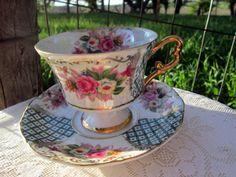 Vintage Teacup Tea Cup and Saucer Lusterware