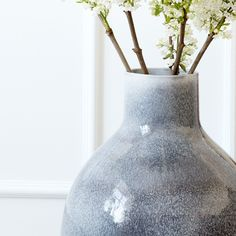 The decorative ceramic floor vase is perfect for the style-conscious design lover.