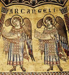 Mosaïques du Baptistère. La hiérarchie des anges. 14. Les archanges (le plus vénéré : St Michel)