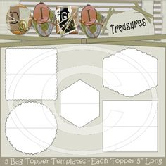 Bag Topper Template Collection of 5