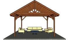 Wooden picnic shelter plans