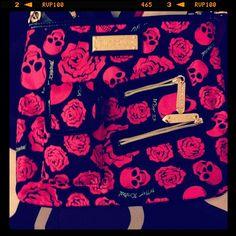 Betsey Johnson skull purse