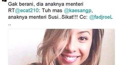 Kecantikan Nadine Kaiser putri Menteri Susi Pudjiastuti hebohkan dunia maya. Bahkan kabar ini sampai ke telinga Kaesang Pangarep putra bungsu Presiden Jokowi. Selengkapnya on-msn.com/1ttAzFs