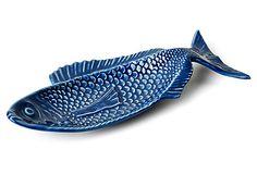 Hand-Painted Fish Platter, Blue on OneKingsLane.com                                  $24