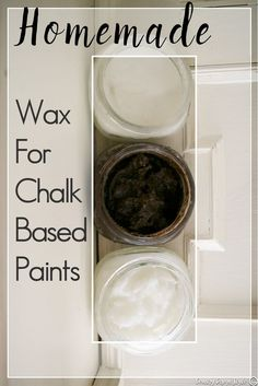 You will want to try this! How to make homemade wax for chalk based paints. I make a soft wax, harder rubbed wax, and a dark wax for furniture. | Country Design Style | http://countrydesignstyle.com