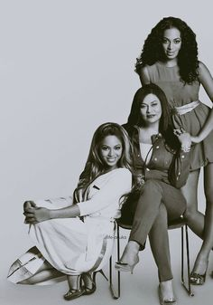 Beyonce, her mother Tina and sister Solange.