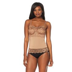 fe2bf3a7c187b Rhonda Shear Pin-Up Lace Camisole Tank