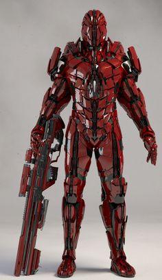 A Soldier Model I made so very long ago. Futuristic Armour, Futuristic Art, Robot Concept Art, Armor Concept, Fantasy Armor, Dark Fantasy, Armadura Steampunk, Armadura Sci Fi, Space Opera