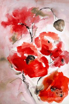 Poppies I Painting by Hedwig Pen - Poppies I Fine Art Prints and Posters for Sale