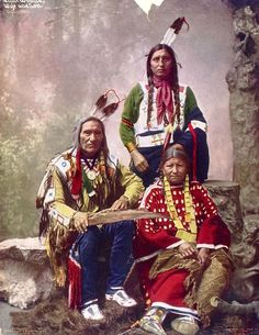 Chief Little Wound of the Oglala Lakota, and Family, - 1899