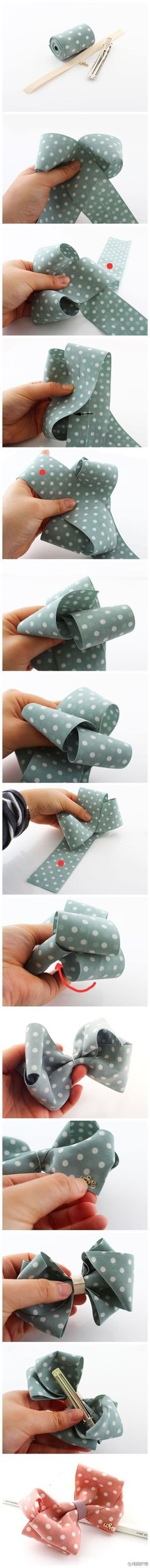 dot ribbon bows