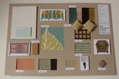 A design for a Mediterranean villa, living area sample board