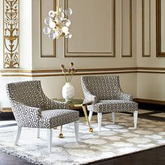 The Jonathan Adler Haines Chair looks fab flanking a cocktail table or carving out a corner in the living room.