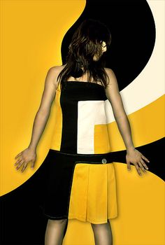 Black and Yellow dress /art...photo on flickr - Ram's photostream