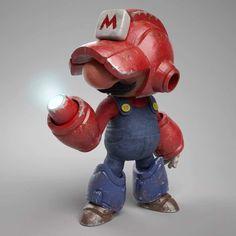 Esta figura de una fusión de Mario con Mega Man hará las delicias de sus fans
