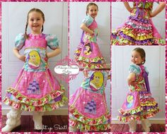 Twinkling light up Princess custom skirt set by Mckenzie Brooke Couture