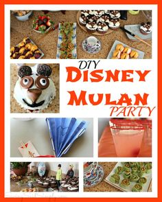 DIY Disney Mulan Party | Decor, Food and Ideas, perfect for a birthday party