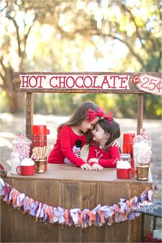 Love this idea of a hot cocoa stand for pictures!