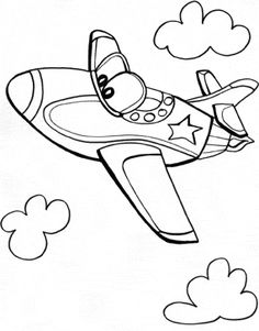 Jet Airplane Coloring Page | Airplanes, Jets and Craft