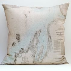 cool printed map pillows