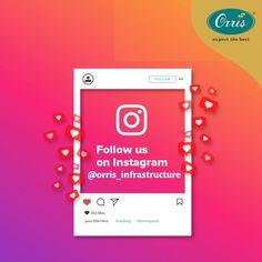 Get all the latest updates of Orris Infrastructure.  Follow us on #Instagram (@orris_infrastructure): - www.instagram.com/orris_infrastructure  #NewGurgaon #Orris #TheBigAdvantage #OrrisIndia #Gurgaon Follow Us, Latest Updates, Lorem Ipsum, Like You, Advertising, Symbols, Letters, Instagram, Letter