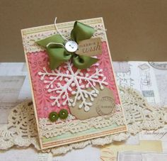 love the colors of this christmas card