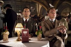 """""""Stunning 'Great Gatsby' stills released.""""  I must have that table lamp!  And what are they drinking?!"""