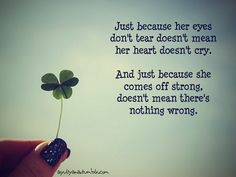 quotes+for+hair+and+shoes | Just because her eyes don't tear doesn't mean her... - LoveQuotesPlus