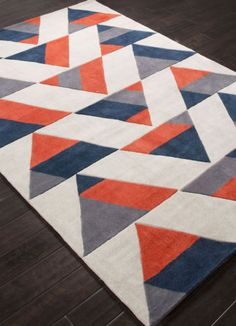 Jaipur-FN31-Hand-Tufted-Geometric-Pattern-Polyester-Red-Black-Area-Rug-2x3