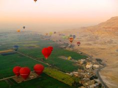 Take to the Sky ^-^ In a Hot-Air Balloon Ride !!  one of the most breathtaking ways to see # Luxor #..    Santa Claus Travel Egypt    reservation@santaclaustravel.com