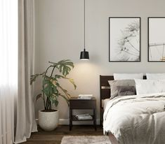 Scandinavian Interior Bedroom, Scandinavian Style Home, Room Interior, Scandinavian Design, Master Bedroom Design, Uni Bedroom, Bedroom Inspiration, Cottage Style, Modern Farmhouse