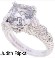 Judith Ripka Fleur De Lis Diamonique Ring    eBay