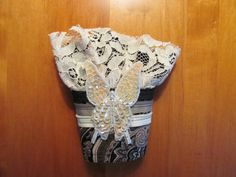 OOAK Fabric Cuff Beaded Butterfly Steampunk by GaleFridays on Etsy