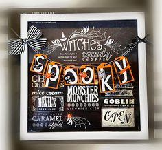 Me, My Stamps and I: Spooky Frame uses Halloween Bash stamp set and Witches Brew DSP