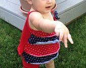 Little Miss Cutie Pie {red, white & navy}