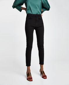 Imagine 2 din THE HIGH WAIST REVOLVE BLACK de pe Zara