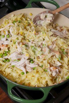 Chicken Pot Pie Noodles
