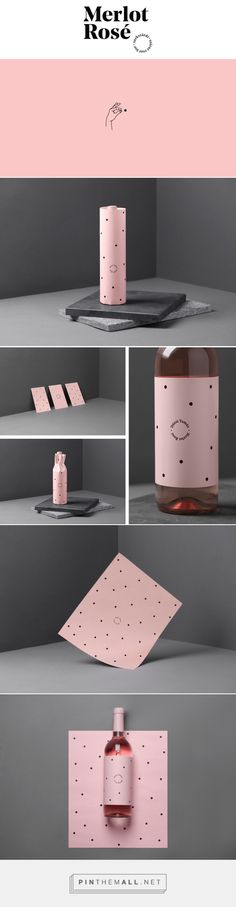 Duzsi Tamas Merlot Rose Wine Packaging by Kira Koroknai Fivestar Branding Agency – Design and Branding Agency & Curated Inspiration Gallery Corporate Design, Brand Identity Design, Branding Design, Logo Design, Wine Packaging, Brand Packaging, Packaging Design, Luxury Packaging, Business Branding