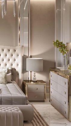 Modern Luxury Bedroom, Master Bedroom Interior, Luxury Bedroom Design, Modern Master Bedroom, Home Room Design, Luxurious Bedrooms, Home Decor Bedroom, Interior Design Living Room, Large Bedroom