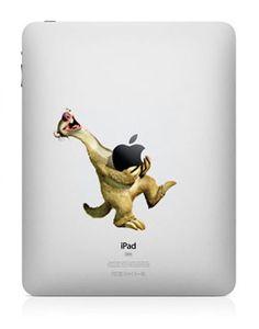 33 Creative Decals for your iPad Mac Stickers, Mac Decals, Apple Stickers, Macbook Pro Decal, Macbook Stickers, Macbook Laptop, Macbook Air, Ice Age Funny, Apple Mac Laptop