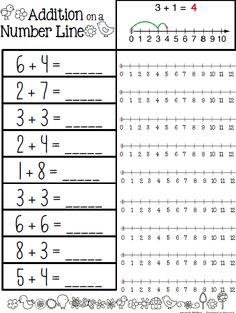 Inspired-in-Second Shop - | Teachers Notebook - Addition on a Number Line