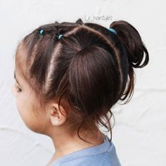 All of these hairdos will be fairly simple and are a great option for beginners, quick and easy toddler hair-styles. Easy Toddler Hairstyles, New Short Hairstyles, Cute Hairstyles For Kids, Baby Girl Hairstyles, Easy Hairstyles, Hairstyle Ideas, Bangs Hairstyle, Short Haircuts, Little Girl Haircuts