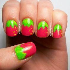 nailsbytori_ strawberry #nail #nails #nailart
