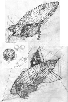 Steampunk Airship by ~dukkeofdeath on deviantART