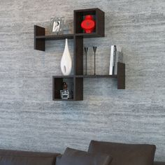 MINAR | vente-privee Cool Shelves, Bookcase Shelves, Bookshelf Design, Wall Shelves Design, Wooden Wall Decor, Wooden Walls, Dressing Table Storage, Minimal House Design, Niche Design