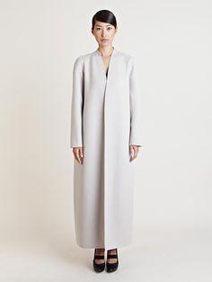 Jil Sander Womens Lapel-less Montevideo Coat